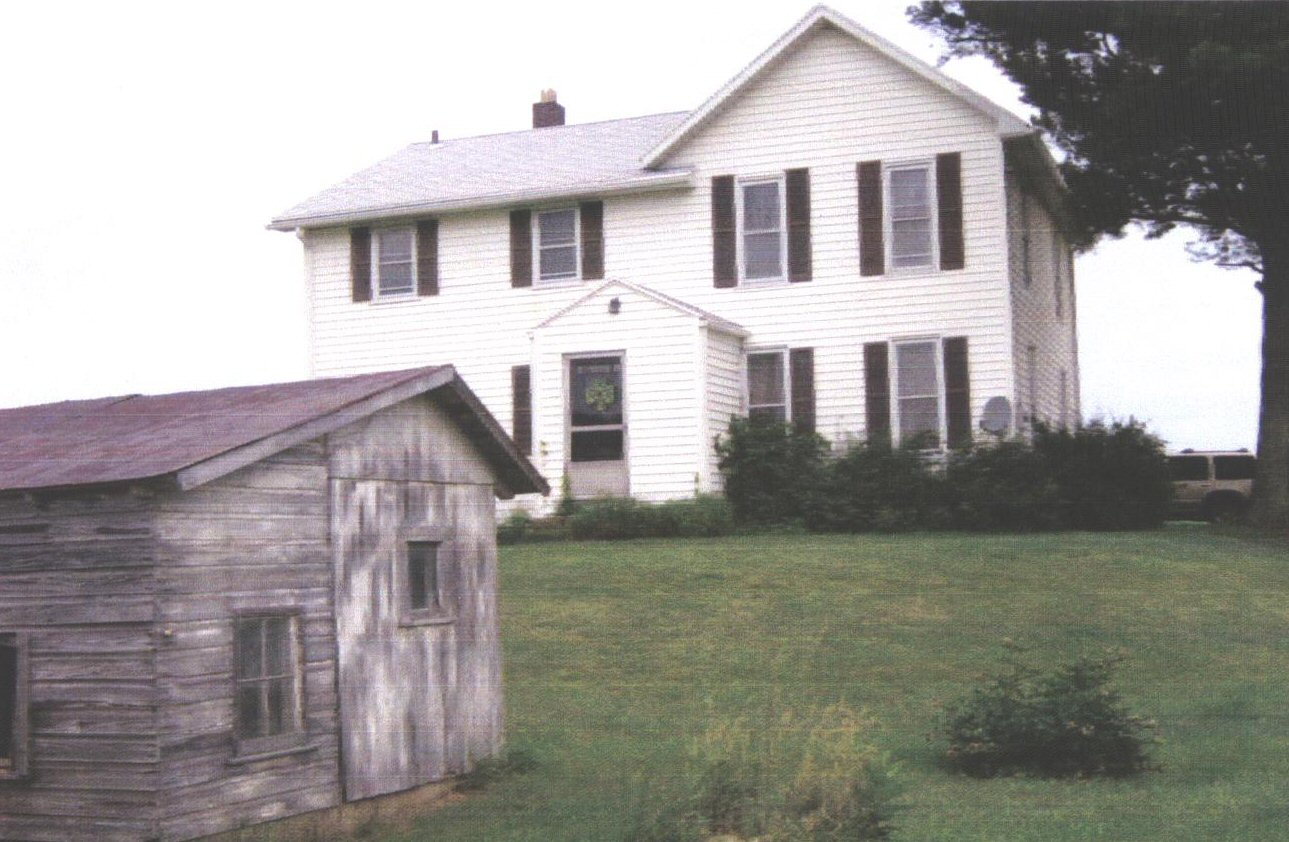 Home of Franklin Fry and Nancy Offineer Fry in 1874