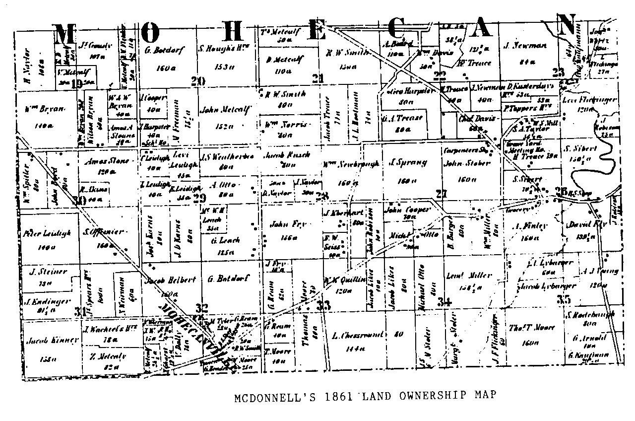 Mcdonnell's 1861 Atlas: Mohican Township